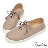 訂製鞋 可後踩柔軟皮革休閒鞋-可可
