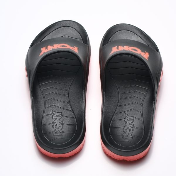 PONY 橘紅 黑 金蔥 橘LOGO 防水 膠拖 拖鞋 男女 (布魯克林) 2019/05月 92U1FL07AN