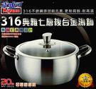 【好市吉居家生活】 米雅可 MY-3020 316典雅七層複合金雙耳湯鍋 20CM 附蓋 鍋子