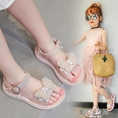女童涼鞋2021夏季新款網紅中大童仙女風兒童鞋沙灘鞋女孩公主鞋子