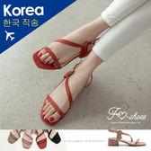 涼鞋.斜繞腳低跟涼鞋-FM時尚美鞋-韓國精選.Repeat