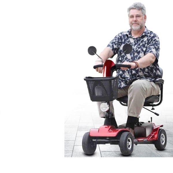 老人代步車四輪老年電動殘疾人助力車電瓶車四輪折疊迷你型 IGO