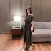 露背洋裝 超仙的森系連身裙女春季新款韓版露背收腰顯瘦過膝中長裙夏天 交換禮物