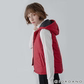【GIORDANO】女裝經典素色保暖連帽背心 - 24 標誌紅