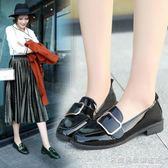 牛津鞋 復古厚底單鞋布洛克黑色學院軟底鬆糕牛津小皮鞋方頭  『名購居家』
