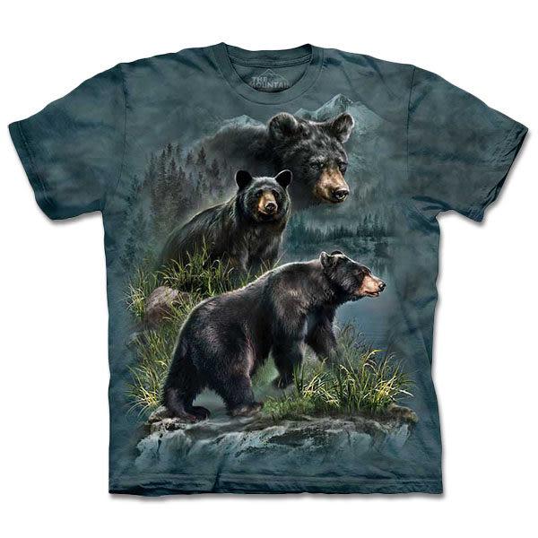 【摩達客】 (預購) 美國進口【The Mountain】自然純棉系列 三熊鼎立 T恤(10413045125a)