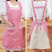 圍裙韓版時尚雙層防水防油圍裙廚房做飯圍腰可愛公主罩衣家用女工作服 嬡孕哺