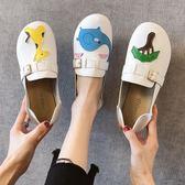娃娃鞋軟底豆豆鞋女2019春季新款圓頭可愛大頭娃娃鞋平底兩穿一腳蹬單鞋 萊俐亞