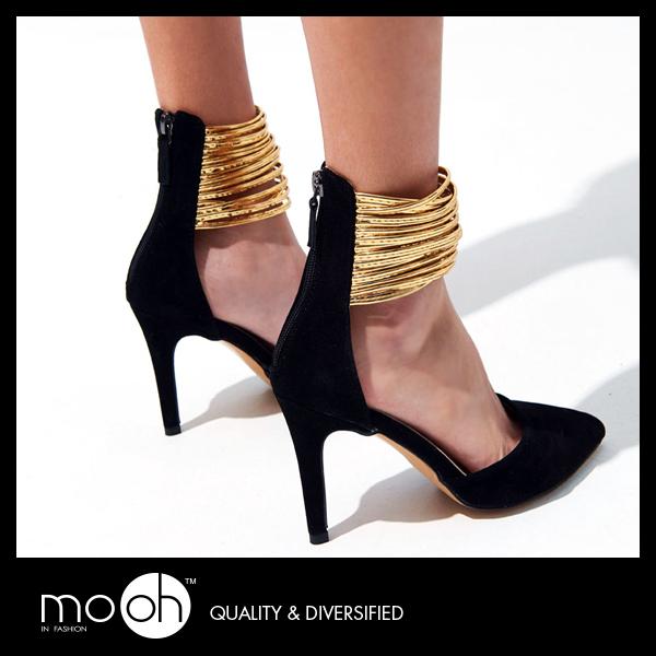 尖頭高跟鞋 羅馬涼鞋 歐美時尚細跟繞腳高跟涼鞋  mo.oh (歐美鞋款)