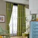 飄窗全遮光繡花紗仿亞麻刺繡布料純色臥室客廳