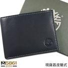 【Timberland】荔紋牛皮夾 簡式卡夾 品牌盒裝/黑色