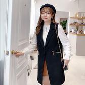 中大尺碼外套 韓版西裝背心外套無袖拉鍊單扣寬鬆顯瘦 L-5XL #cd0081 ❤卡樂❤