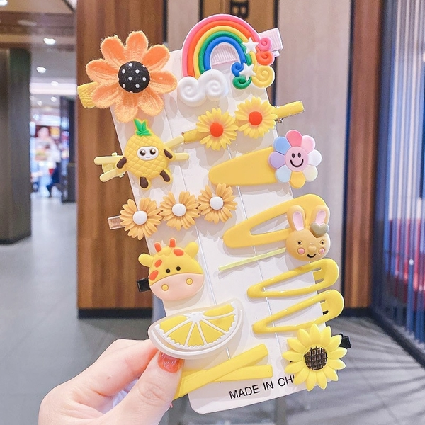 IDEA 兒童髮夾14件組 兒童髮飾 女童 可愛 水果
