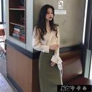 女神范套裝女春新款御姐氣質Chic百搭修身上衣 裙子兩件【全館免運】