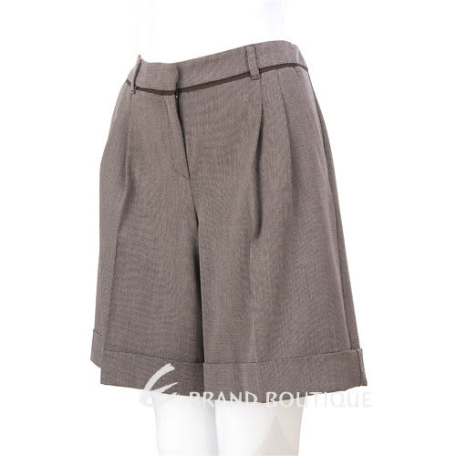 MARELLA 咖啡/米色反褶短褲 1230414-07