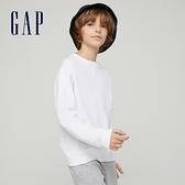 Gap男童 純棉舒適圓領上衣 701028-白色