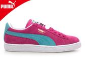PUMA Suede Classic+ 女休閒鞋-粉紅湖水藍( 麂皮 滑板鞋