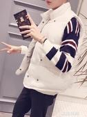 情侶款棉馬甲男秋冬季韓版潮無袖外套加厚寬鬆立領羽絨棉坎肩背心『艾麗花園』