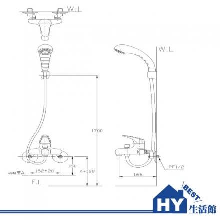 HCG 和成 BF3720T 生物能科技沐浴龍頭 -《HY生活館》水電材料專賣店