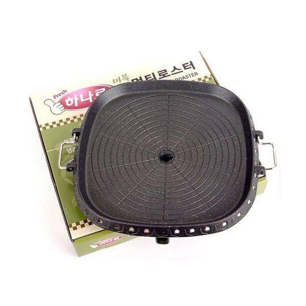正韓國 Hanaro《方形32cm》韓國烤盤 排油油切烤盤-AB