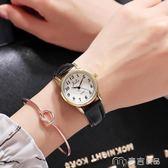 新款韓版簡約男女學生潮流時尚休閒大氣防水數字情侶手錶一對     麥吉良品