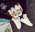 小白鞋舒適百搭校園潮 顯高柔軟厚底魔術貼運動休閒小白單鞋熱賣夯款