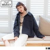 《KG0910-》高含棉大口袋挺版襯衫領外套 OB嚴選