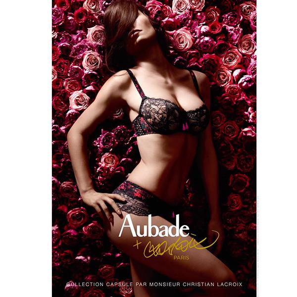 Aubade-巴黎牧歌E-F蕾絲薄襯全大罩內衣(黑)DX