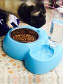 狗狗用品狗碗狗盆貓咪用品貓碗狗食盆雙碗自動飲水器泰迪寵物用品【快速出貨】