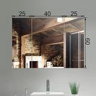 浴室鏡櫃 客製 廁所不鏽鋼浴室鏡櫃洗手間挂牆式鏡子帶置物架衛生間儲物鏡前 快速出貨