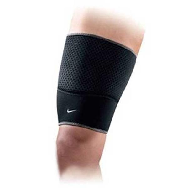 Nike Thigh Sleeve [9337022020] 運動 籃球 自行車 透氣 彈性 支撐 緩震 大腿套 黑 M