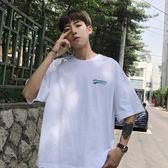 新款潮流小清新寬鬆短袖T恤韓版男士原宿bf風半袖tee學生
