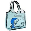 哆啦A夢 透明 手提袋 果凍袋 游泳袋 小叮噹 Doraemon 日本正版 該該貝比日本精品 ☆