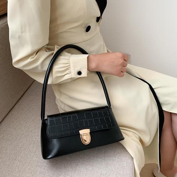 限購特價 網紅小黑包包女春夏新款時尚法國小眾洋氣復古單肩手提腋下包