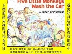 二手書博民逛書店Five罕見Little Monkeys Wash The CarY256260 Christelow, Ei
