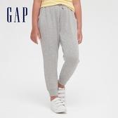 Gap女童 仿羊羔絨簡約風鬆緊休閒褲 618250-淺灰色