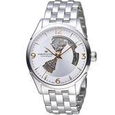 HAMILTON漢米爾頓 JAZZMASTER爵士系列OPEN HEART 80小時自動腕錶   H32705151