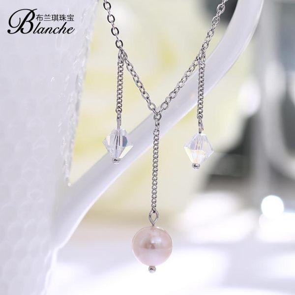 水晶腳鍊女韓國簡約天然珍珠腳鍊飾品配飾甜美雙11購物節必選
