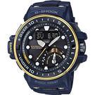 CASIO卡西歐 G-SHOCK MASTER 海軍進階版太陽能電波手錶-金x藍 GWN-Q1000NV-2A / GWN-Q1000NV-2ADR