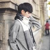 圍巾男士秋冬季韓版格子百搭保暖圍脖學生簡約加厚高檔潮生日禮物 洛小仙女鞋
