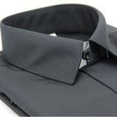 【金‧安德森】黑色斜紋吸排長袖襯衫