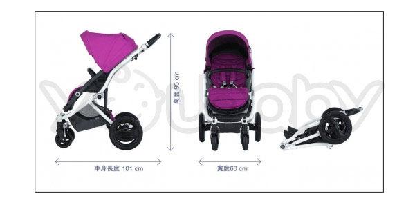 Britax Affinity 四輪雙向嬰兒手推車 -黑色
