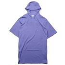 FILA 帽T 紫 基本款 大LOGO 連帽 薄長 五分袖 上衣 (布魯克林) 5TEV1505PL