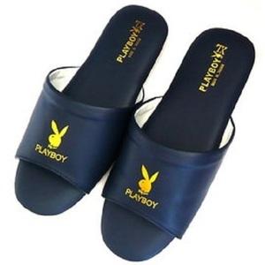 (e鞋院)PLAY BOY精緻舒適室內皮拖鞋-藍藍26CM