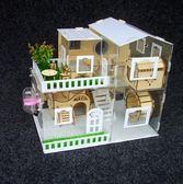 倉鼠籠 倉鼠籠子超大別墅亞克力透明單層雙層荷蘭豬金絲熊倉鼠籠【快速出貨八折優惠】