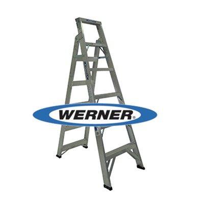 美國Werner穩耐安全鋁梯-DP366AZ 鋁合金兩用梯(梯長1.8m 荷重120公斤) 梯子 直梯 直馬梯