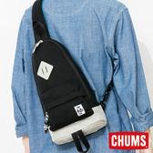 CHUMS 日本 SxN 經典單肩斜背包 黑/灰 CH602120K008