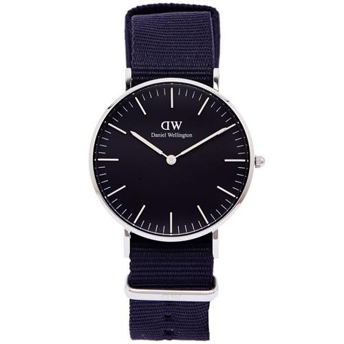 DW Daniel Wellington Cornwall手錶(DW00100151)-黑面X黑色/36mm
