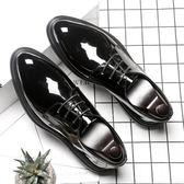 尖頭休閒皮鞋 商務正裝男鞋 學生鞋子【五巷六號】x239
