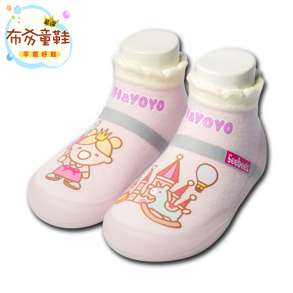 《布布童鞋》Feebees夢幻島PlayGround遊樂園寶寶機能襪鞋(12.5~16.5公分) [ X7B062A ] 襪鞋款
